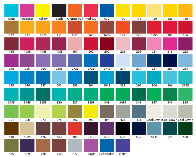 Favoloso ™ Sportswear Color Chart CJ61