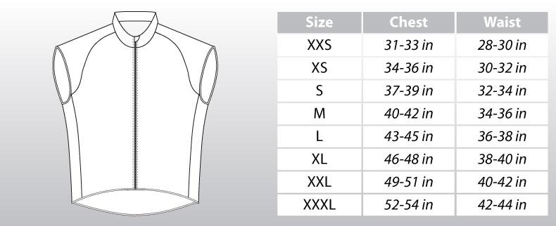 Image result for vest size chart